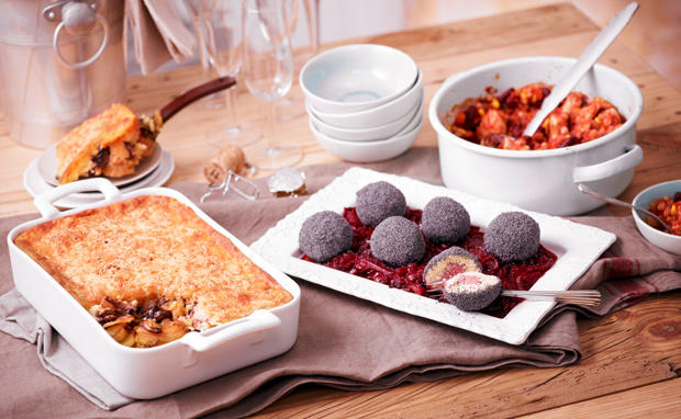 Faschingsparty Warme Gerichte