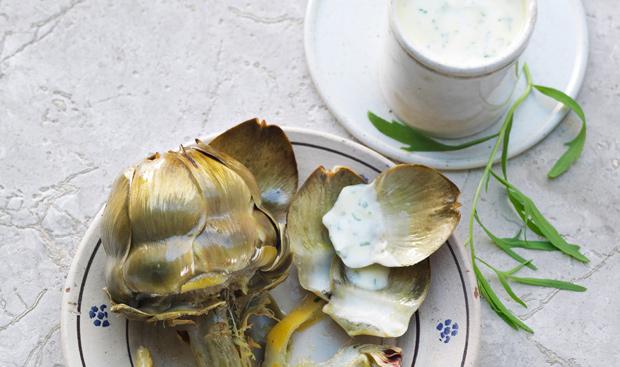 artischocken mit estragon mayonnaise rezept gusto at. Black Bedroom Furniture Sets. Home Design Ideas