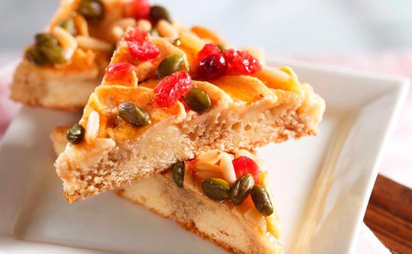 Apfel Mohnkuchen Mit Cranberries Und Pinienkernen Rezept Gusto At