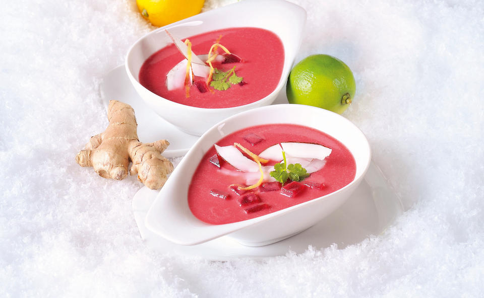Rote-Rüben-Suppe mit Curry