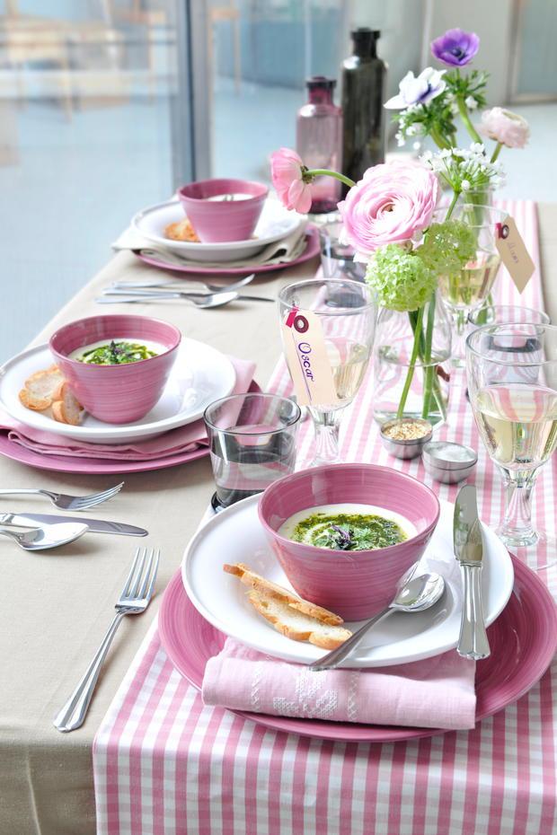 Fruhlingshafte Tischdeko Gusto At
