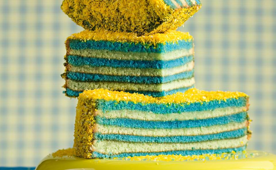 Baumkuchen Blau Gelb Rezept Gusto At