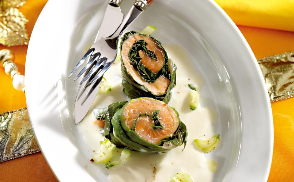 Lachs Mangold Roulade