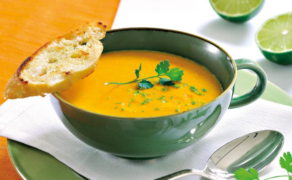 Karottensuppe Mit Limette Rezept Gustoat
