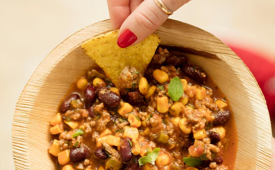 Chili Con Carne Mit Bohnen Und Mais Rezept Gustoat